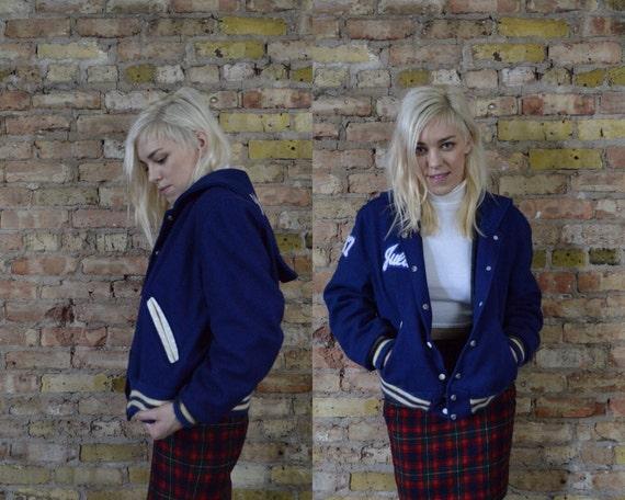 Cheer Captain 87 Wool Varsity Jacket Novelty Size Large Letter