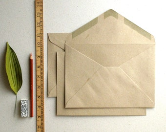 """50 C5 (6""""x9"""") Brown Kraft Envelopes - Triangle flap - for A5 (half A4) cards and 6""""x8"""" photos (The actual size is 6 3/8"""" x 9"""")"""
