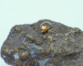 Gold Star Nose Ring , gold stud, gold plate Yellow Gold Nose stud, Indian style