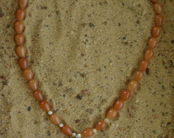 Amber Conch Shell Necklace