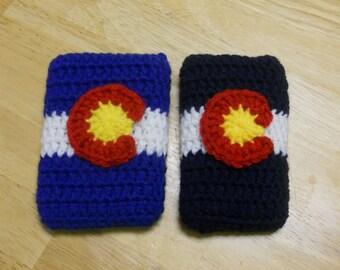 Crochet Colorado Cell Phone Case, Colorado Flag Phone Case, iPhone case, iPod Case, Phone Sleeve