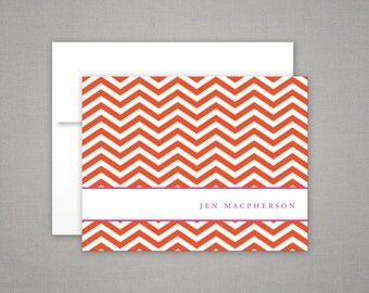 Personalized Stationery - Chevron - Thank You Notes - Gift Set - Personalized Stationary