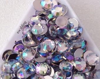 7mm clear AB rhinestones - 150 pieces - U.S. seller -  DIY, bling, flatback