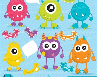 monster fun clipart commercial use, vector graphics, digital clip art, digital images - CL654