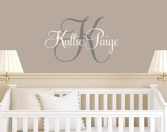 Girls Name Wall Decal - Baby Girl Nursery - Teen Girl Name Decals - Personalized Kids Decal - Children Monogram Decals - Nursery Girls Decal