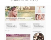 Grey Watercolor Wordpress Theme Website Template Photography Event Consultants Small Business Shades of Grey Gray Installation Included