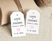 Reserved Listing for Paige - Little Heart Col #16 - Small Tag Template  - Non-Editable
