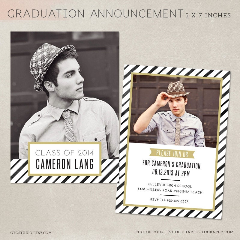 Senior graduation announcement template for photographers psd for Senior announcement templates free