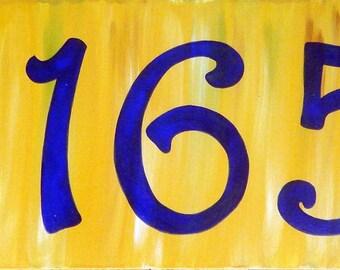 Modern large numbers porcelain address plaques, Ceramic house number plaque, Number design, outdoor large house sign, door house numbers