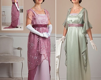 Edwardian /Titanic Dress # 1517 /1911 1917 /High Waist Dresses/Costume (New Pattern) Size 6-12