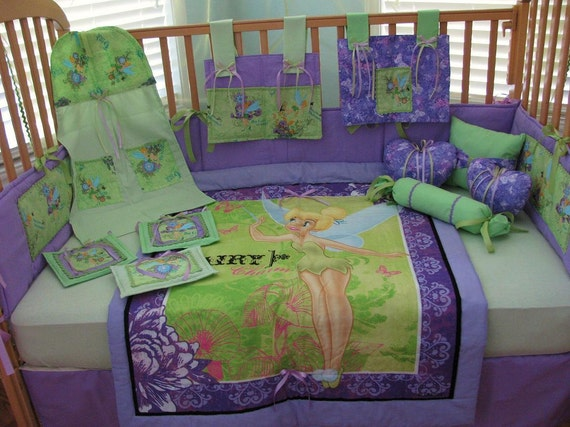 Tinkerbell Fairy Pixie Hollow Green Purple 12 Piece Baby