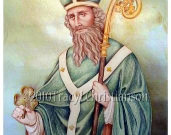 Saint Patrick (A) Print Catholic Patron Saint Ireland Free Shipping #4149