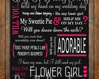Printed & Shipped Will You Be My Flower Girl Proposal Card