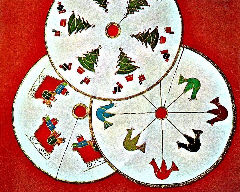 Quilted Christmas Tree Skirt / Round Tablecloth Tutorial