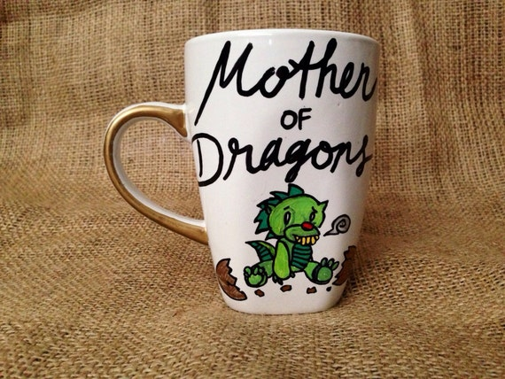 12 Mugs For Mother S Day: Mother Of Dragons Coffee Mug // 12 Oz Mug With By