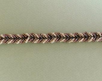 Weaved Bracelet, Charm Bracelet, Beaded Bracelet, Gold Plated Charm Bracelet