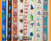 Dinosaur Suspenders - Baby Suspenders - Circus Suspenders - Carnival Suspenders - Infant Suspenders - Newborn - Rocket Ships - Space - Clown