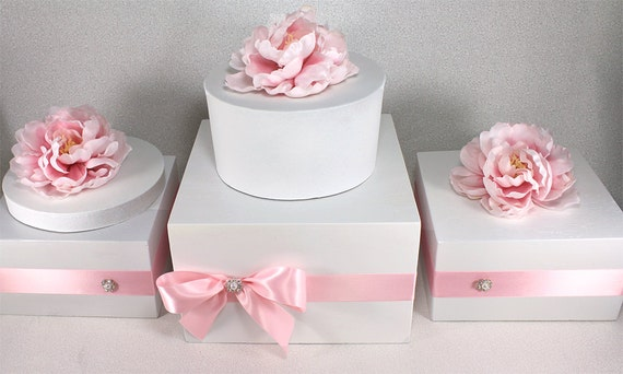 box wedding cake stand any color wooden wedding cake stand box with rhinestone pearl 12115