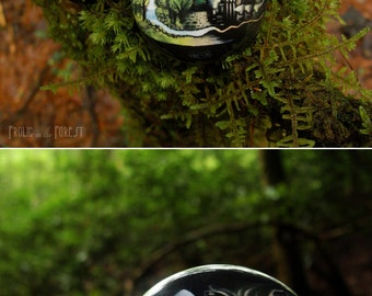 Man vs. Nature Button (Pin Back)