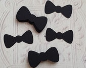 50-2 Inch Wide Die Cut Bow Ties, Bow Tie, Gender Reveal Decor, Baby Shower Decor, Bow Tie Cupcake Toppers