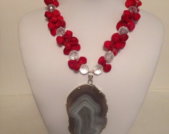 Bold Red Coral Necklace