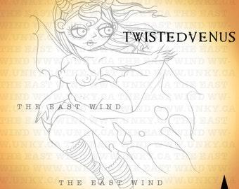 Digital Stamp -Twistedvenus 'The Devil Wears Nada' -300 dpi JPEG/PNG files - MAC0099