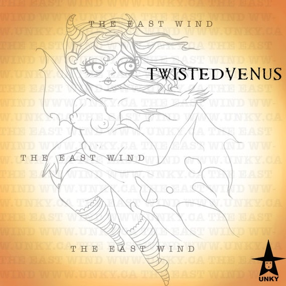 Digital Stamp -Twistedvenus 'The Devil Wears Nada' -300 dpi JPEG/PNG files - MAC0099