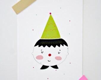 Postcard- Party Clown-