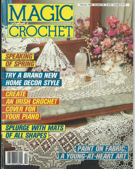 Magic Crochet Magazine : Magic Crochet Magazine Back Issue February 1989 Number 58 Crochet ...