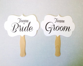 Team Bride Team Groom Photo Booth Props - Wedding Photo Booth Props - Wedding Reception - Mr. and Mrs.