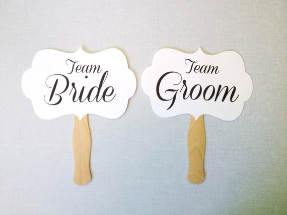 Team Bride Team Groom Photo Booth Props Wedding Photo Booth