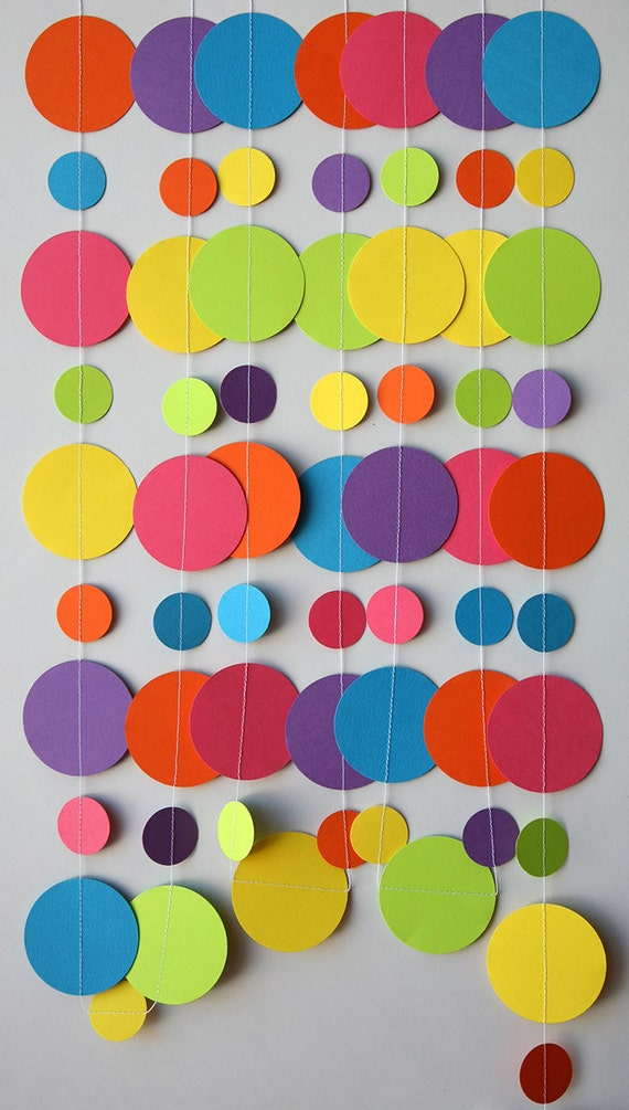 Rainbow paper garland Birthday decorations Birthday party