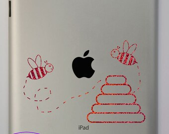 Bumble Bees and Hive iPad Decal