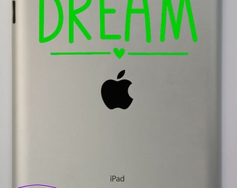 Cute Dream Typography iPad Decal