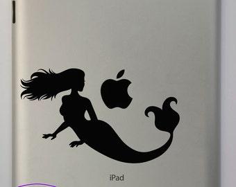Mermaid Looking Back iPad Decal