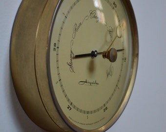 Vintage Danish Modern Barometer / Thermometer from Airguide // Mid Century Barometer