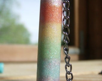 Pastel Rainbow Bottle Charm Necklace