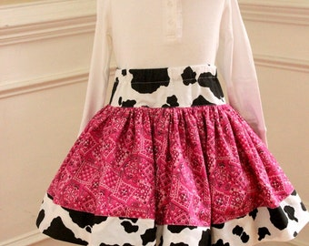cowgirl skirt girl cowgirl birthday skirt pink rodeo skirt cowgirl outfit skirt cow skirt girl girls toddler skirt bandana skirt birthday