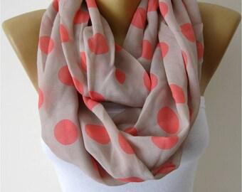 SALE ! 9,90 USD- Infinity Scarf Shawl Circle Scarf Loop Scarf ,Gift scarf -Spring-summer scarf by MebaDesign