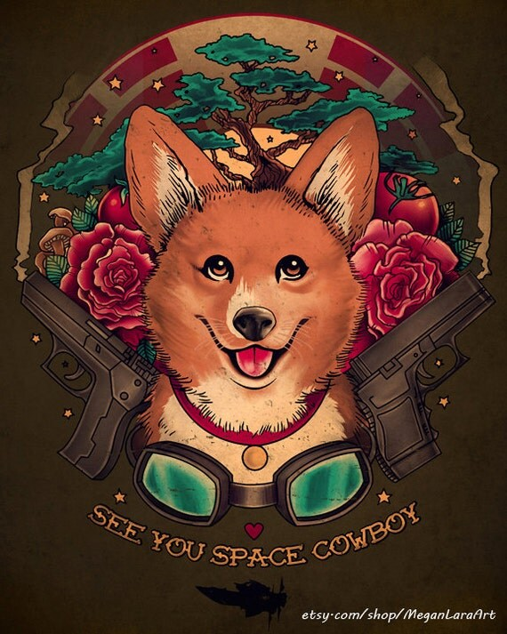 "See You Space Cowboy -  4x5 signed ""Cowboy Bebop"" mini art print"