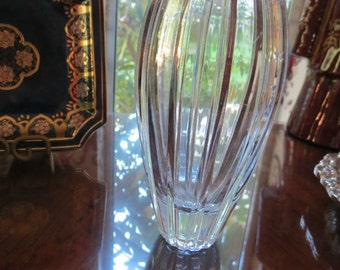 Lead Crystal Vase Tulip Shaped