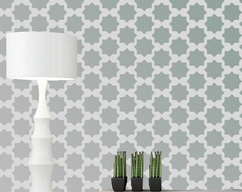 Geometric homemade wall stencil, reusable wall stencil ideas, wall paper design