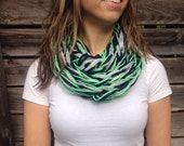 Ready To Ship - Seattle Seahawks - Sparkle Fan Infinity Scarf - LIMITED QUANTITIES AVAILABLE