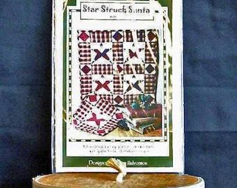 Christmas Wall Quilt Pattern, Sweet Peas 650, Star Struck Santa, 2001 Uncut