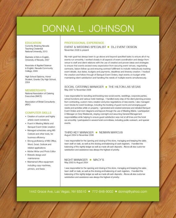 items similar to custom resume template reverse name on etsy
