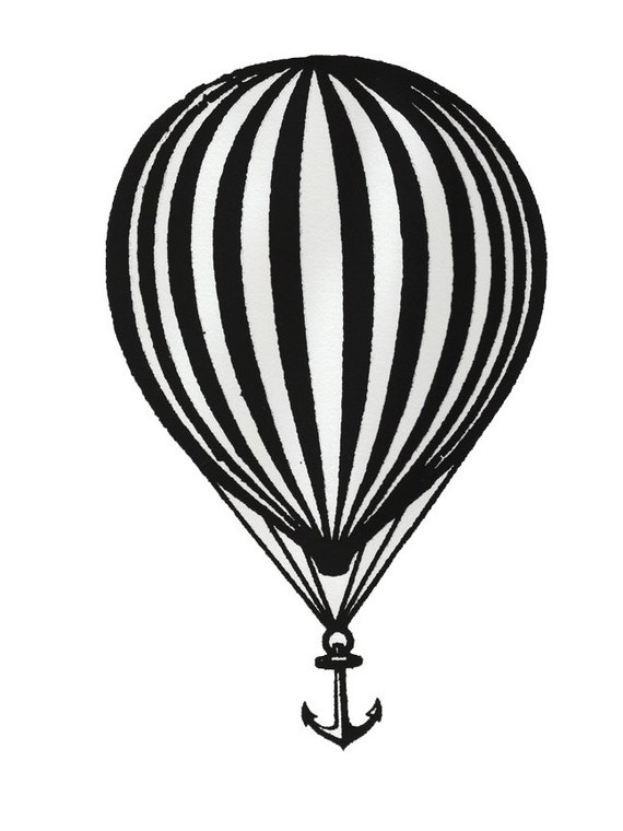 Modest mouse balloon and anchor screen print we were dead for Modest mouse tattoo