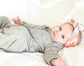 Aztec Baby Headwrap // Organic Baby Headband