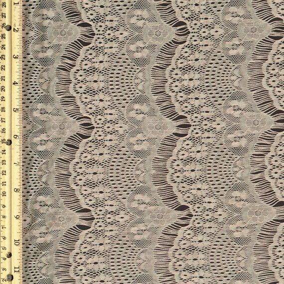 Tan stretch eyelash lace fabric by the yard or wholesale 1 for Cheap fabric by the yard