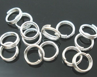 Silver split rings - 180 pc- silver jumprings lot - 4mm- Silver Plate Findings - Jewelry making supplies -OR12