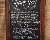 Chalkboard Easel/Wedding Chalkboard/Chalkboard with Stand/Chalklettering/Chalkboard Sign/Birthday Chalkboard/Beatles Birthday